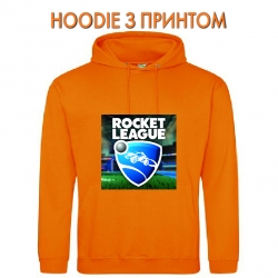 Худи с принтом Rocket League Logo оранжевый