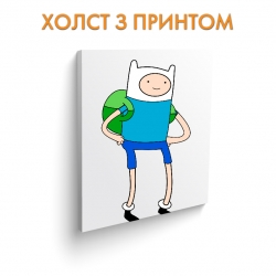 Холст Adventure Time Finn The Human art.100040