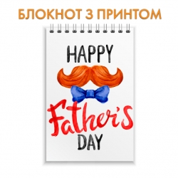 Notepad Father's Day mustache and butterfly