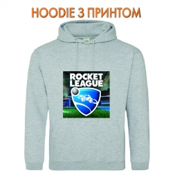 Худи с принтом Rocket League Logo серый