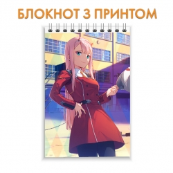 Блокнот Darling in the FranXX Hero Girl Zero Two