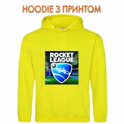 Худи с принтом Rocket League Logo желтый