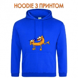 Худи с принтом CatDog Friends голубой