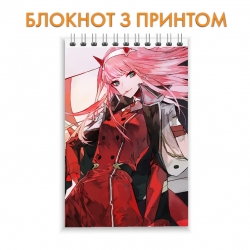Блокнот Darling in the FranXX Gorgeous Zero Two Hero