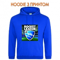 Худи с принтом Rocket League Logo голубой