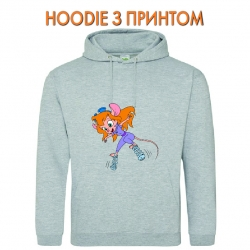 Худи с принтом Chip And Dale Rescue Rangers Hero Gadget Hackwrench серый
