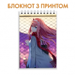Блокнот Darling in the FranXX Perfect Zero Two