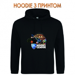 Худи с принтом Rocket League Print Logo черный