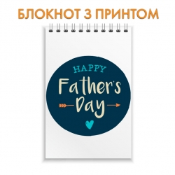 Notepad Father's Day heart arrow in a circle