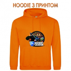 Худи с принтом Rocket League Print Logo оранжевый