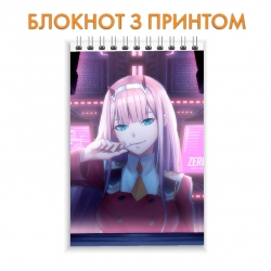 Блокнот Darling in the FranXX Zero Two Print