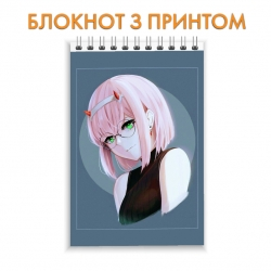 Блокнот Darling in the FranXX Zero Two Art