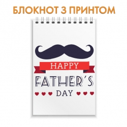 Notepad Father's Day mustache ribbon heart