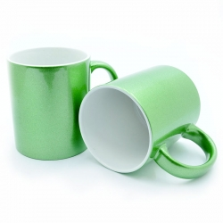Green mother-of-pearl cup