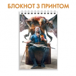 Блокнот The Witcher Theme Print