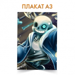 Плакат Undertale Sans Hero Print