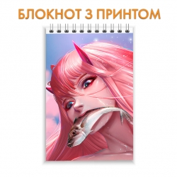 Блокнот Darling in the FranXX Zero Two With Fish