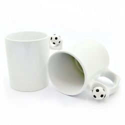 Cup with a soccer ball on the handle