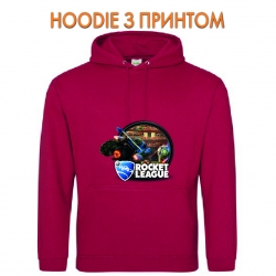 Худи с принтом Rocket League Print Logo красный
