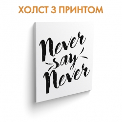 Холст Never say never