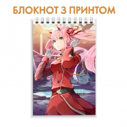 Блокнот Darling in the FranXX Zero Two Amazing Hero