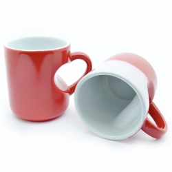 Cup chameleon red heart case