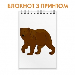 Блокнот Bear from cartoon