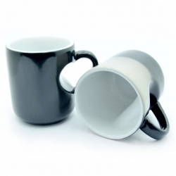 Cup Chameleon Black Case Heart