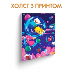 Холст Adventure Time Bubbles art.100281