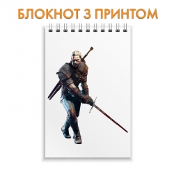 Блокнот The Witcher Print Geralt of Rivia