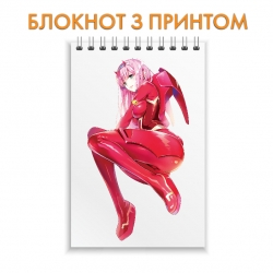 Блокнот Darling in the FranXX Zero Two Hero Girl