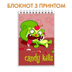 Блокнот Happy Three Friends Candy Kills