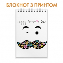 Notepad Father's Day flower mustache