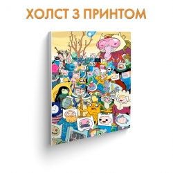 Холст Adventure Time Heroes Stack art.100282