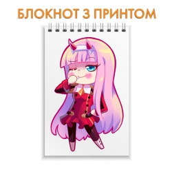 Блокнот Darling in the FranXX Zero Two Funny Art