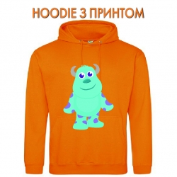 Худи с принтом Monsters Inc James P. Sullivan Cute оранжевый