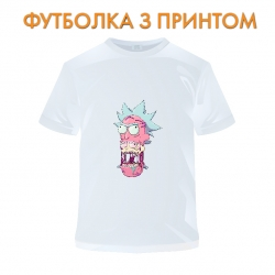 футболка Rick And Morty Monster Rick, белая