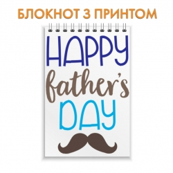 Notepad Father's Day mustache brown