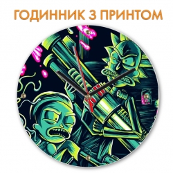 Часы Rick And Morty Neon