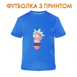 футболка Rick And Morty Monster Rick, голубая
