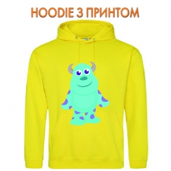 Худи с принтом Monsters Inc James P. Sullivan Cute желтый
