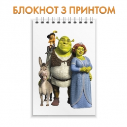 Блокнот Shrek Family