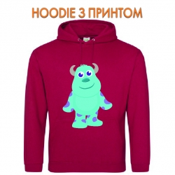 Худи с принтом Monsters Inc James P. Sullivan Cute красный
