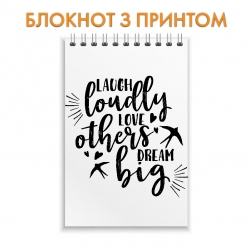 Блокнот Laugh, love, dream