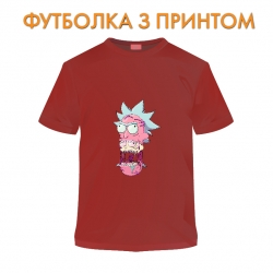 футболка Rick And Morty Monster Rick, красная