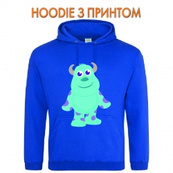 Худи с принтом Monsters Inc James P. Sullivan Cute голубой