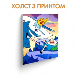 Холст Adventure Time Ice King Battle art.100287