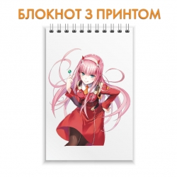 Блокнот   Darling in the FranXX Print Beautiful Zero Two