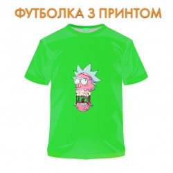 футболка Rick And Morty Monster Rick, салатовая