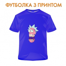 футболка Rick And Morty Monster Rick, синяя
